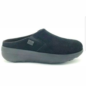 FitFlop Womens Loaff Suede Clog Wobble Slip On